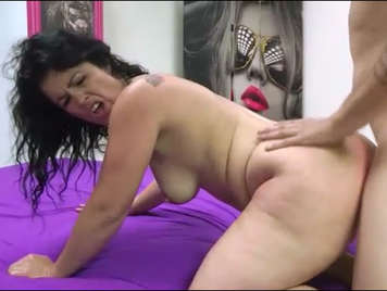Boy rookie in video home with mature assed Montse Swinger
