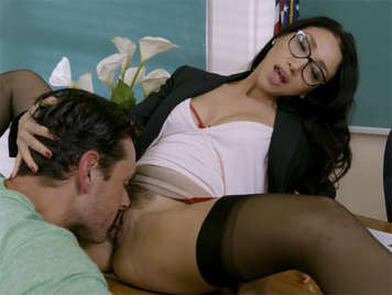 sex in the classroom with a sexy teacher with hairy pussy