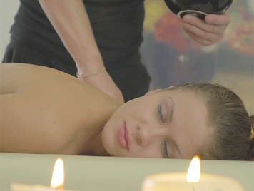 Beautiful and sensual girl fucking with her masseur