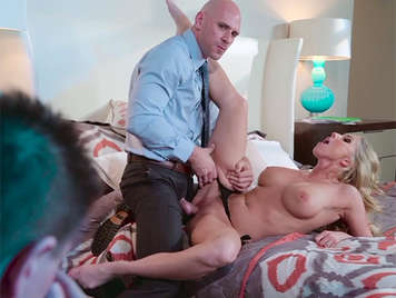 Busty Milf infidel fucking with her husband's boss