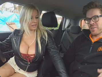 Taxita blonde and busty fucks her client