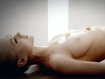 Beautiful girl from east europe in a sensual buffet free of oral sex