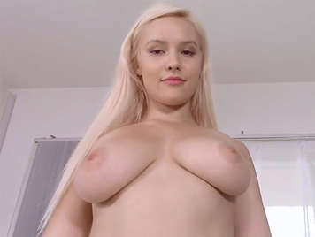 First porn casting of a blonde girl with big natural boobs
