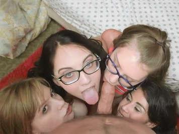 horny college girls sucking cock