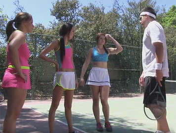 Sex in the summer camp for young sports girls