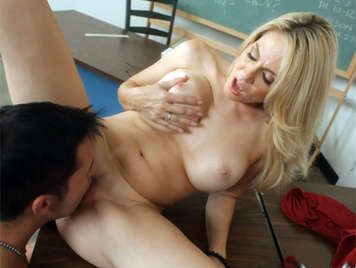 Fucking hard with my busty blonde theater teacher