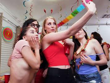University girls celebrating May 5th sucking dicks