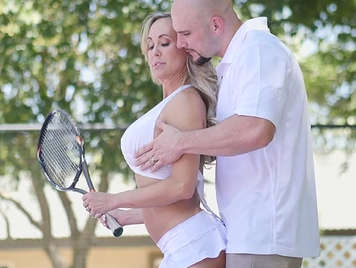 Burning mature has sex with her coach she is tennis.