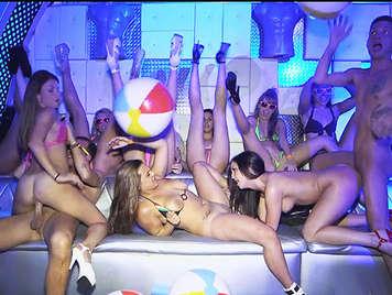 Bikini Bitches Going Crazy in a hot Orgy