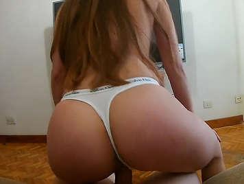 Ass fucks in four in homemade sex.