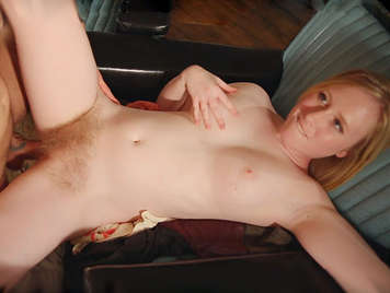 James enjoys the dripping hairy and blonde pussy of his ex-girlfriend the sweet Satine Spark