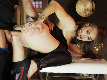 Deep anal sex with the sexy Spanish girl Sandy Alser