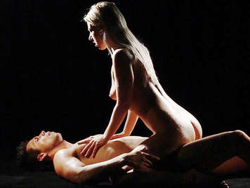 Sensual couple fucking in the darkness