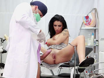 Busty Spanish milf Debora Mendez visited by her gynecologist's cock