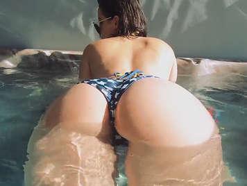 Lovely ass in bikini in the Jacuzzi