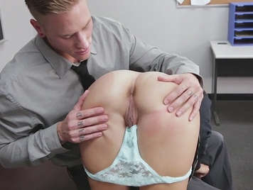 He likes her student's panties and fucks her.
