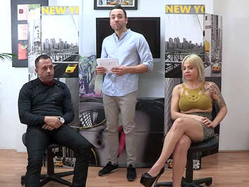Amateur girls and guys fucking in front of the cameras in a television show