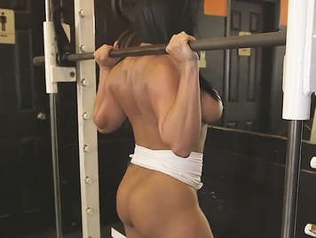 Amazing Busty  milf with a toned body and big ass fucked in the gym