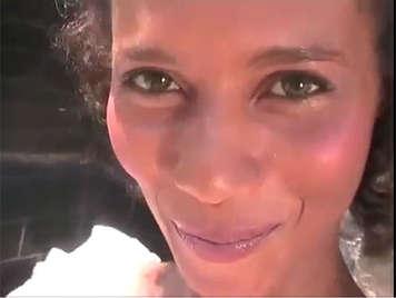 Breaking the asshole of a cute amateur brazilian maid