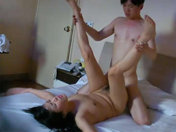 Japanese young couple fucking with a hidden camera