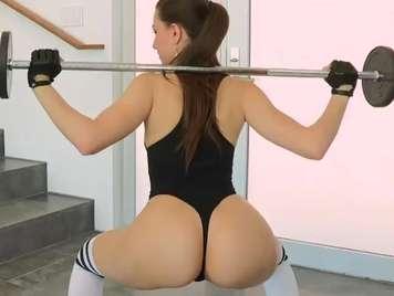 Latina fucking hard after exercising her ass