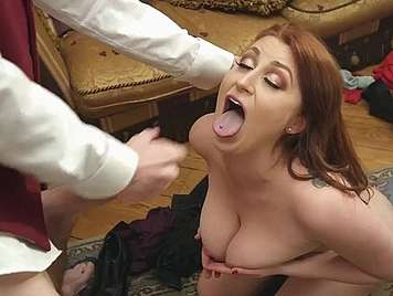 Cheating wife of big tits fucked at a party