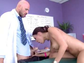 Doctor makes a good thorough check of his patient