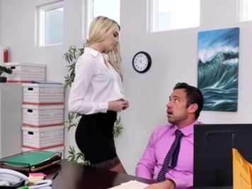 The new secretary wants hard cock