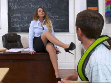 Seductive teacher with sexual needs