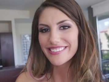August Ames giving a blowjob