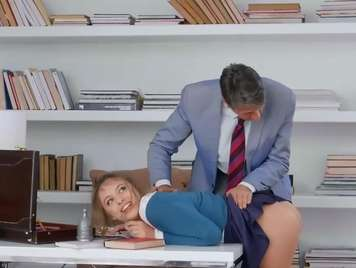 Teacher fucks his student in his office