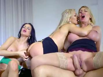 Orgy with four secretaries very fucking and vicious