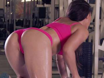 Gym fucking with a very sexy and hot young girl
