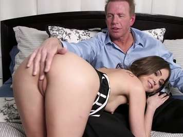 Beautiful 19 year old girl fucks with her stepfather
