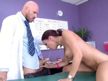 Doctor puts her to breastfeed a patient