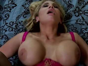 Busty very excited wants milk in her big breasts
