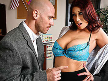 Lush milf teacher with big tits and vicious likes a thick hard cock