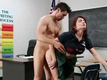 Teacher fucks a very slutty student