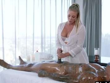 Masseuse gets aroused with a black and wants hard sex