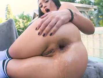 Hard Anal To Busty Brunette Who Wants Brutal Sex