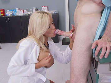Mature doctor with big tits fucked in the hospital