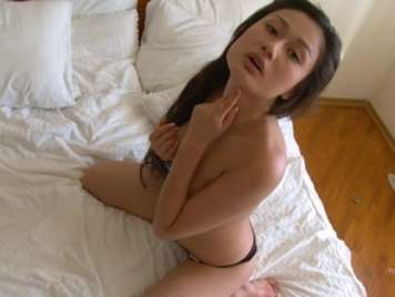 Very horny Asian girl masturbates until she reaches orgasm