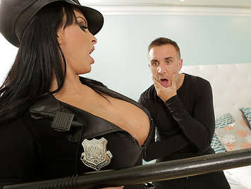 Police Woman big tits fucked hard in the ass