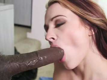 Black cock pumping a white girl's pussy