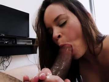 Brutal blowjob from a vicious girl to cocks