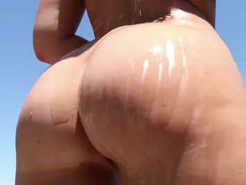 Butt of a beautiful girl addicted to hard sex
