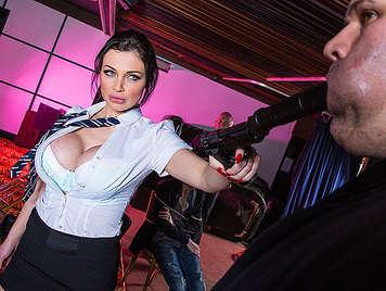 Lara Croft fucking and killing bad guys
