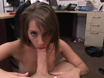 Tremendous blowjob of a young greedy girl