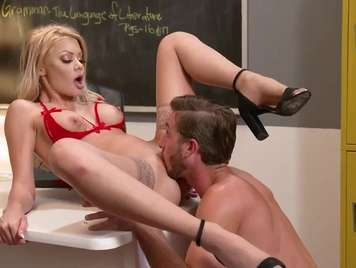 Blond teacher with shaved pussy seeks hard sex