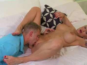 Tattooed milf seduces the neighbor's son